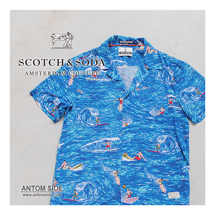 【SCOTCH & SODA / スコッチ アンド ソーダ】半袖 柄シャツ(292-72413)
