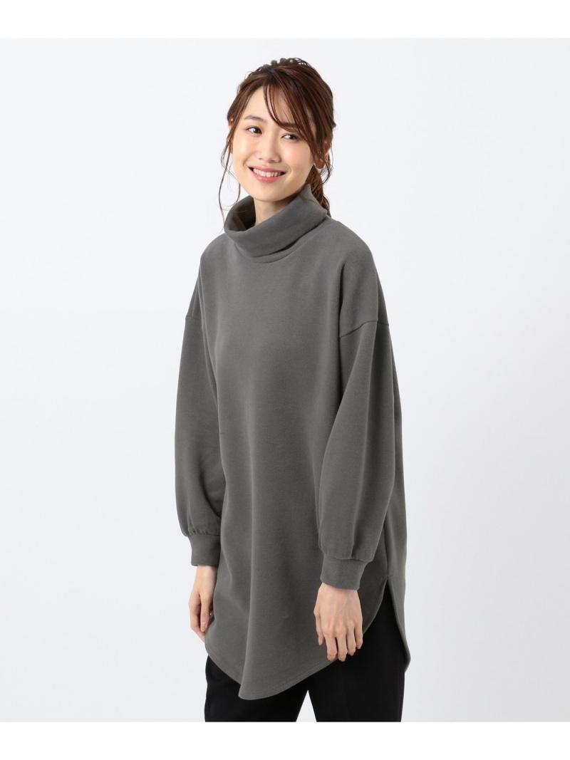 any 日本メーカー新品 FAM レディース カットソー エニィファム Rakuten Fashion SALE ベージュ オレンジ お気に入り Tシャツ RBA_E グレー 50%OFF 起毛タートルネックロングプルオーバー