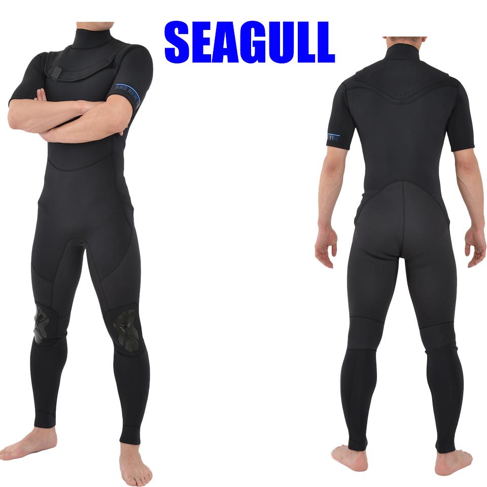 シーガル 3mm ノンジップ 2018モデル AND NEW YOU ウエットスーツ メンズ3ミリ ウェットスーツ ジップレス サーフィン 伸縮 伸縮性 耐久 耐久性 丈夫 防風 防水 メンズ 男性 大きいサイズ サーフィン マリンスポーツ