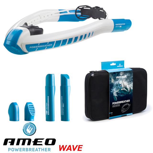 パワーブリーザー WAVE AMEO SPORTSスノーケル シュノーケル アメオスイミング スキンダイビング スノーケリング