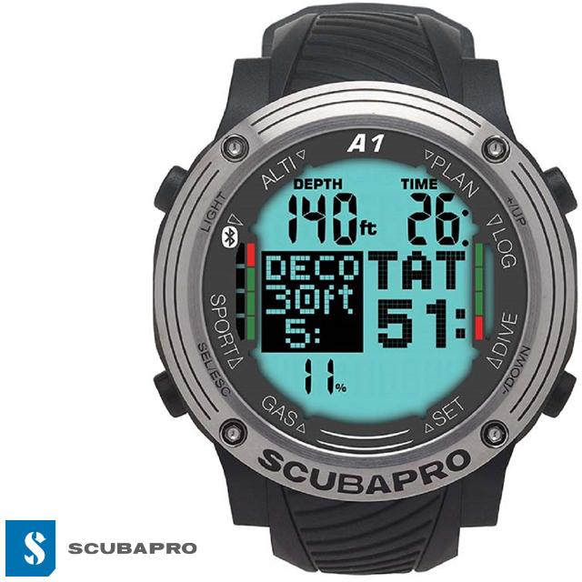 SCUBAPRO スキューバプロ A1 ダイブコンピューターバッテリー交換不要 ダイブ ダイビングコンピューターエスプロ Sプロ ダイコン Bluetooth ダイビング