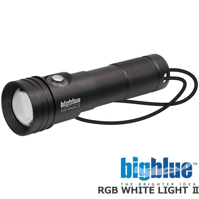 BIGBLUE ビッグブルー 水中ライト LED RGB White LIGHT 2ダイビング ライト ストロボ ランタン 電池式 100M完全防水 500ルーメン プッシュ式