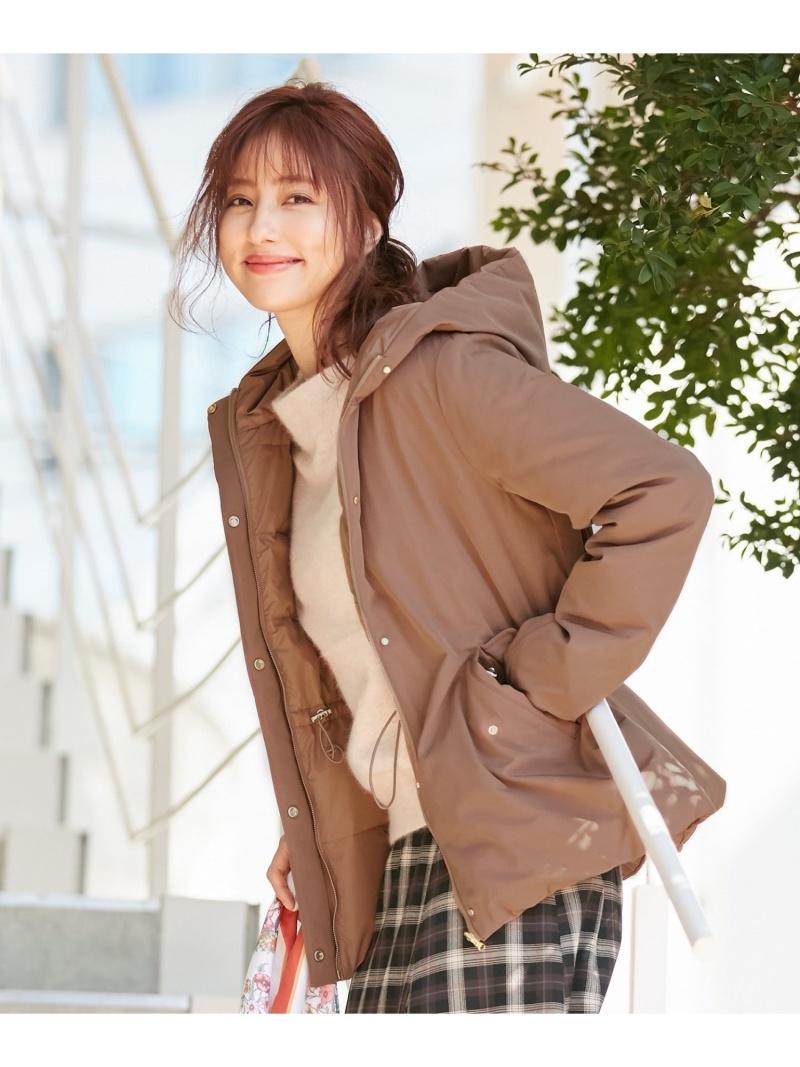 any SiS レディース コート ジャケット エニィスィス Rakuten Fashion SALE 50%OFF RBA_E ダウン ウエストマークリバーシブル セール特価 未使用 ブラウン ベージュ 2WAY ネイビー 送料無料 ダウンジャケット