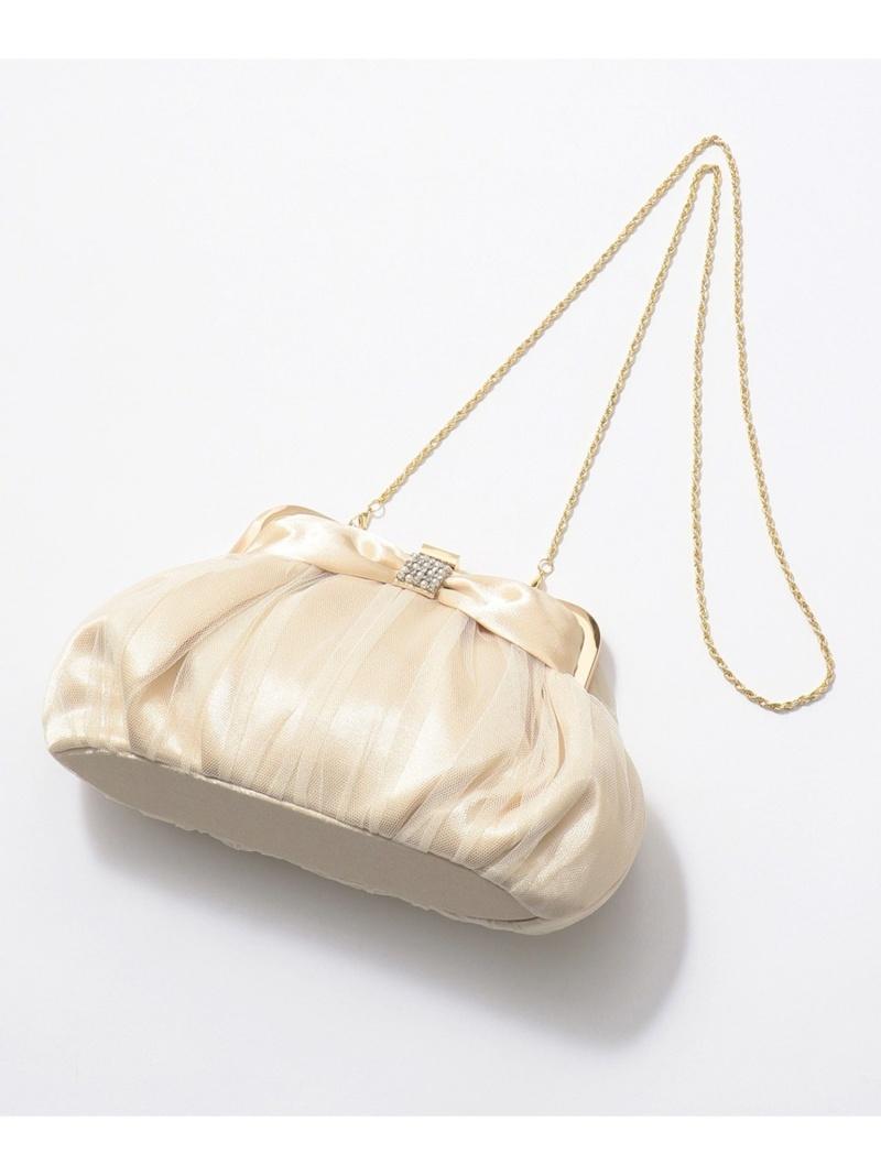 any SiS レディース バッグ エニィスィス SALE 30%OFF リボンビジューエアリーバッグ クラッチバッグ Rakuten シルバー 送料無料 全店販売中 新品 送料無料 RBA_E Fashion ゴールド