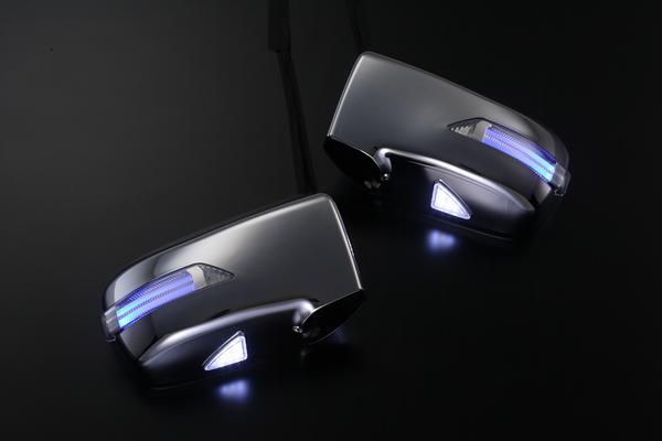 Revier/レヴィーア LEDウインカーミラー ライトバーシリーズ(ポジション機能搭載)RA6.7.8.9 オデッセイフットランプ付き 交換タイプ 塗装済みB92P/NH624P/NH623M/NH578/RP31M/メッキ