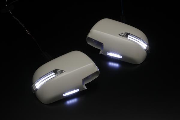 Revier/レヴィーア LEDウインカーミラー ライトバーシリーズ(ポジション機能搭載)AZR60.65Gノア・ヴォクシー 前期専用フットランプ付き 交換タイプ 未塗装