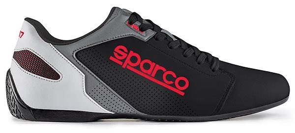 SPARCO/スパルコ ドライビングシューズ4輪車用 SL-17(レザータイプ)ブラック&レッド ※サイズ選択 36~46