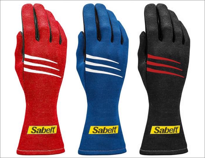 Sabelt/サベルト レーシンググローブ4輪車用 CHALLENGE TG-3(FIA 8856-2000公認モデル)レッド/ブルー/ブラック カラー・サイズ選択 08(XS)~12(XL)