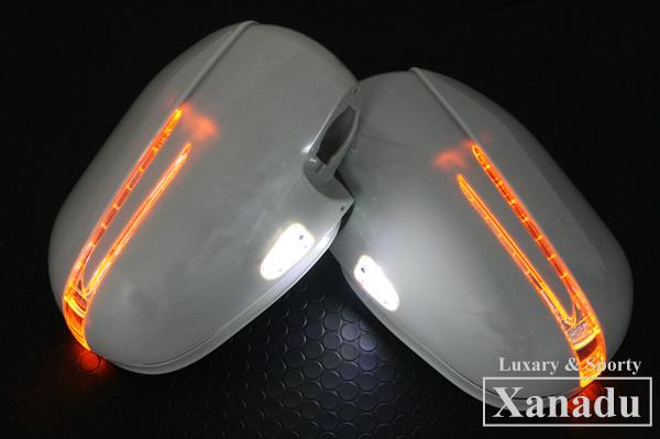 Xanadu[ギザギザ]ドアミラーLEDウィンカー未塗装 ノア・ヴォクシー ZRR70.75W.G