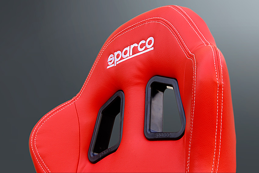 SPARCO / Sparco R100 SKY (sky) reclining semi backed sheets Milan (Allred leather / white)