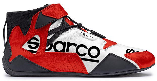 SPARCO/スパルコ レーシングシューズ4輪車用 APEX RB-7(FIA 8856-2000公認モデル)ホワイト&レッド ※サイズ選択 37~47