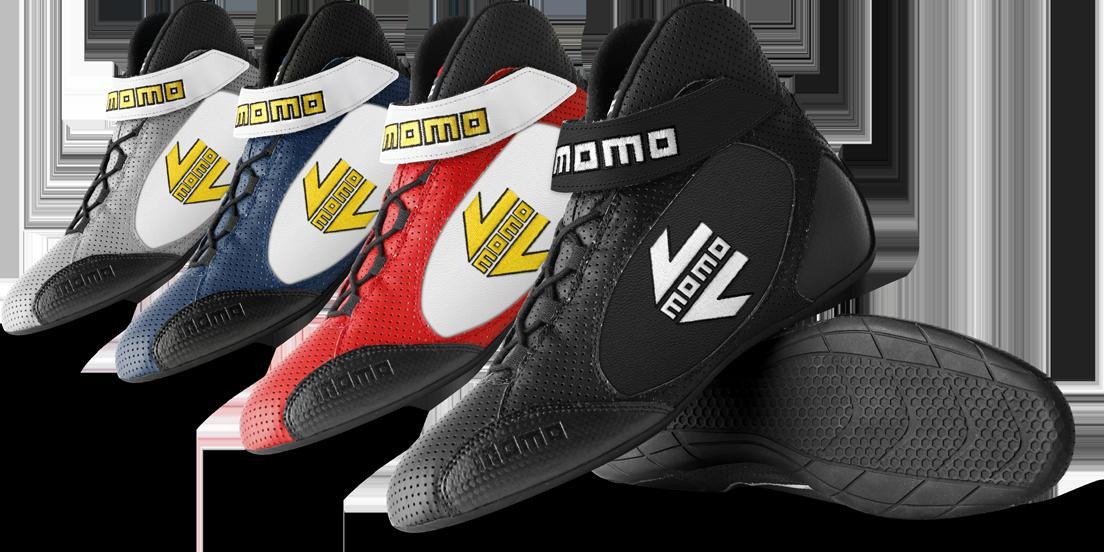 momo(モモ)RACING SHOES(レーシングシューズ)GT PRO(ジーティープロ)FIA公認 8856-2000※グレー(マットシルバー)/ブルー(紺色)/レッド/ブラック サイズ38~46 要選択