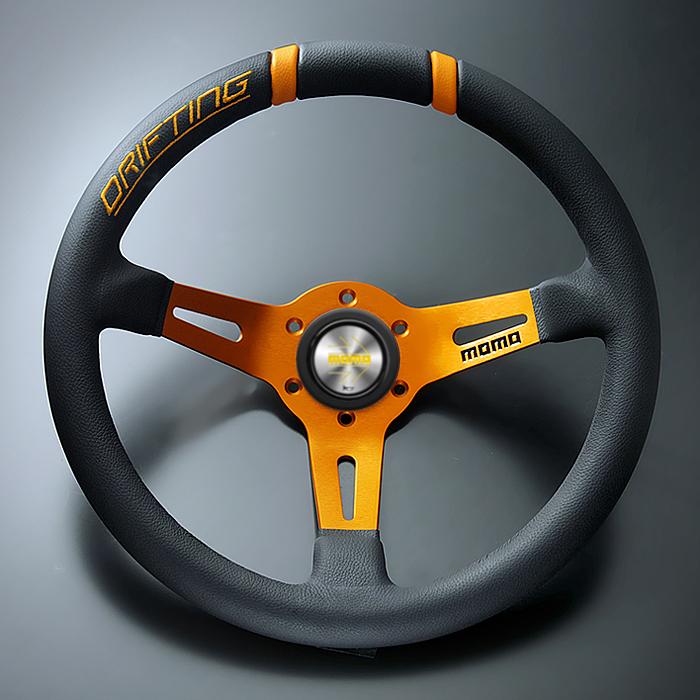 大人気 FORTUNE限定専売モデル 正規輸入品 MOMO 新着 DRIFTING モモ オレンジステッチ オレンジスポーク ドリフティング 33パイ