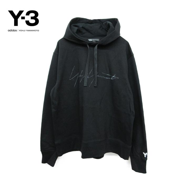 Y-3(ワイスリー)メンズ ロゴ プルオーバーパーカー(DISTRESSED SIGNATURE HOODIE)(FP8691)(BLACK)Yohji Yamamoto adidas ヨウジヤマモト アディダス HOODY PARKA ブラック 黒 あす楽対応