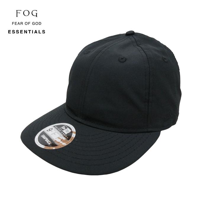 FOG ESSENTIALS  エフオージー フィアオブゴッド エッセンシャルズ   NEWERA ESSENTIALS RETRO CROWN HAT    BLACK  新品 帽子 NEW ERA 9FIFTY ニューエラ ... 61c421c5b445