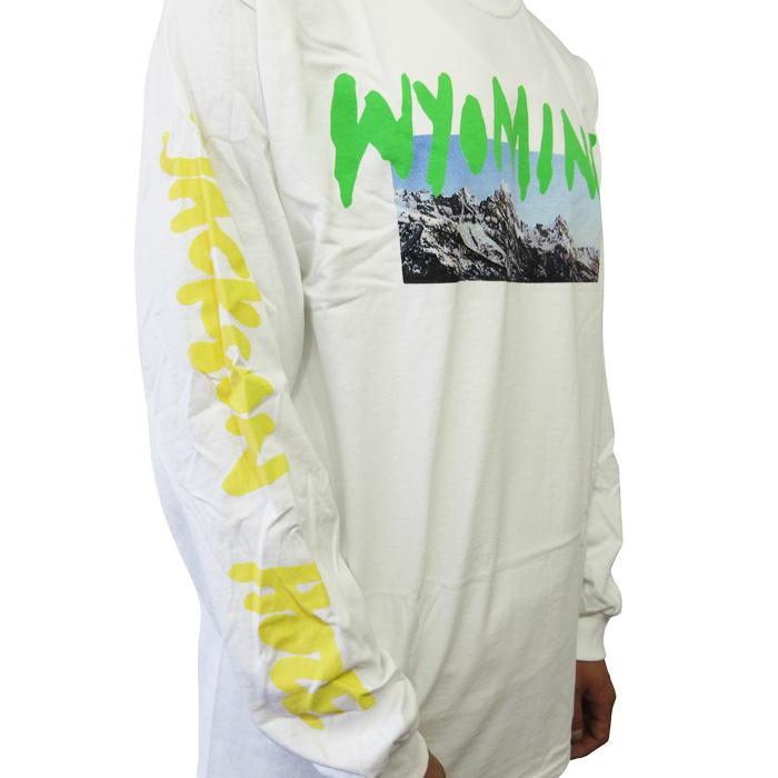 "WHITE】 海外限定商品 【Wyoming Merch L/S T-shirts ""Wyoming"