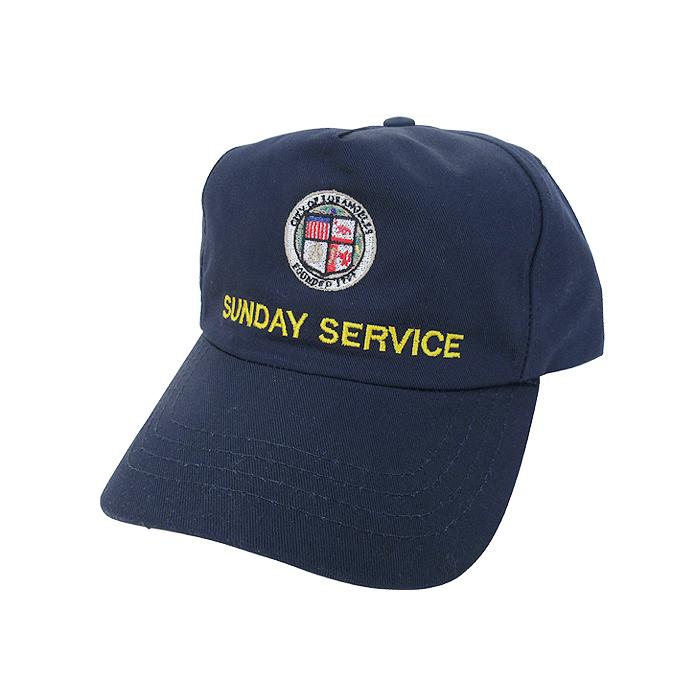 KANYE WEST OFFICIAL SUNDAY SERVICE LOS ANGELES SNAPBACK CAP(NAVY)新品 限定 オフィシャル カニエ・ウェスト スナップバックキャップ メンズ レディース ユニセックス 男女兼用 帽子 ネイビー YEEZY BOOST あす楽対応
