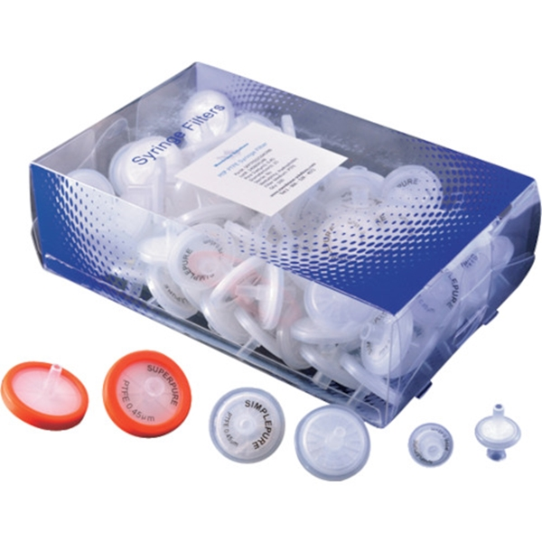大阪ケミカル MSシリンジフィルター PTFE (疎水性) 100個入り PTFE030045 1箱