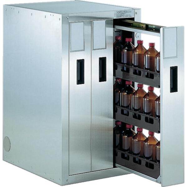 (代引き不可) TRUSCO 耐震薬品庫 458X600XH800 3列引出型 TK3 1台
