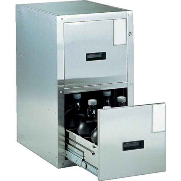 (代引き不可) TRUSCO 耐震薬品庫 455X600XH800 2段引出型 SY2 1台
