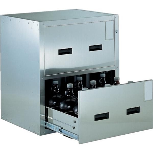 (代引き不可) TRUSCO 耐震薬品庫 705X600XH800 2段引出型 SYW2 1台