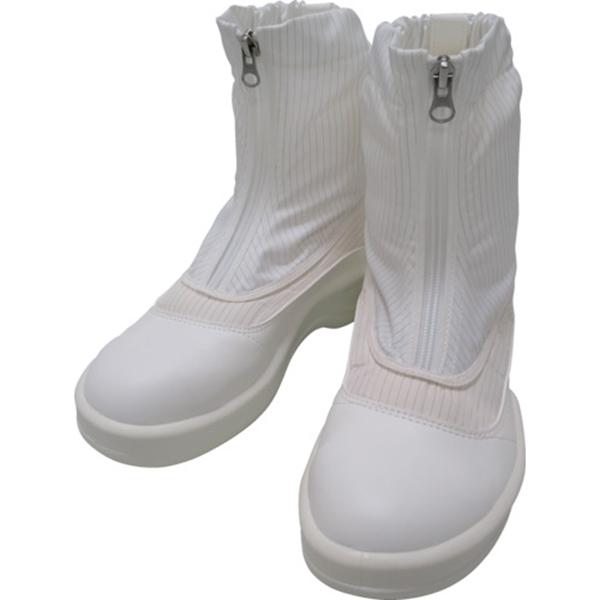 ゴールドウイン 静電安全靴セミロングブーツ ホワイト 25.0cm PA9875W25.0 1足