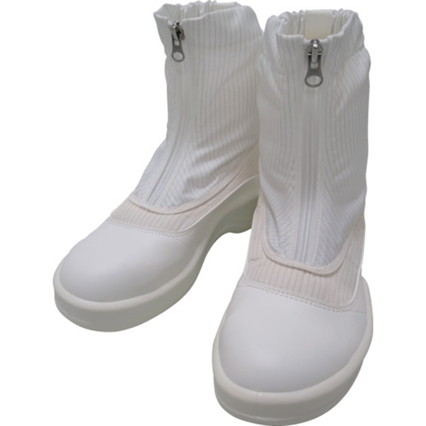 ゴールドウイン 静電安全靴セミロングブーツ ホワイト 28.0cm PA9875W28.0 1足