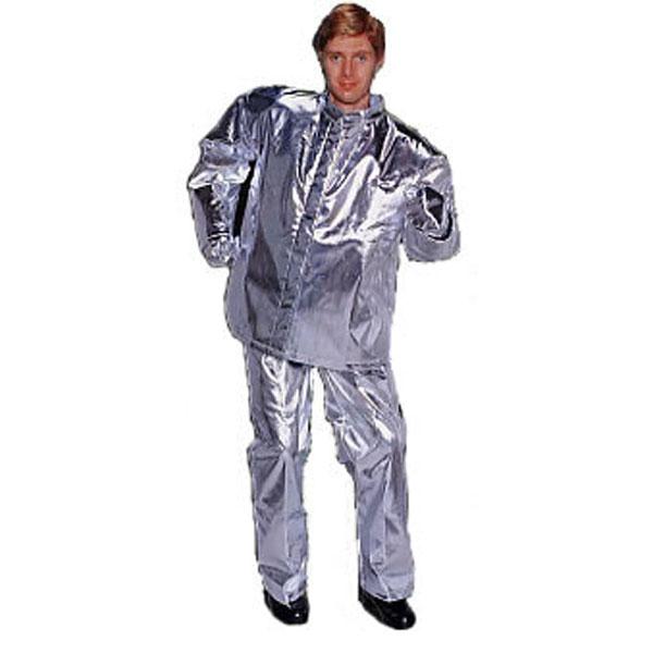 (送料無料) 日本エンコン 耐熱・防炎 全アルミ耐熱服(上衣) (柔軟で動きやすく洗濯ができる耐熱服(上衣))