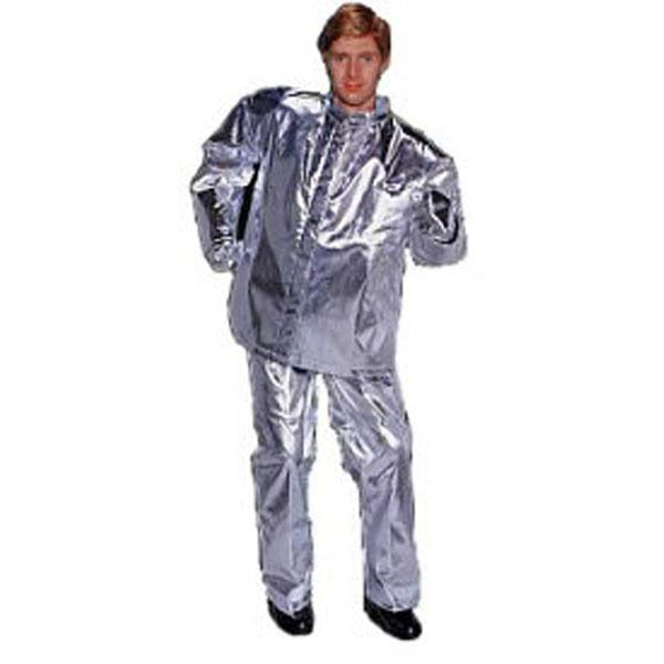 (送料無料) 日本エンコン 耐熱・防炎 全アルミ耐熱服(下衣) (柔軟で動きやすく洗濯ができる耐熱服(下衣))