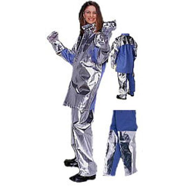 (送料無料) 日本エンコン 耐熱・防炎 アルミコンビ耐熱服(下衣) (裏生地に特徴のあるアルミコンビ耐熱服(下衣))