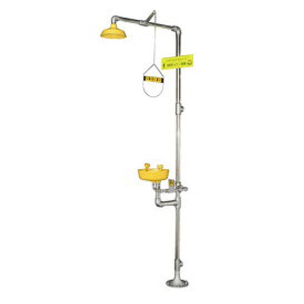 (送料無料) 日本エンコン 緊急シャワー(洗眼器付) 502-07 (緊急用シャワー&洗眼器(ABSモデル))