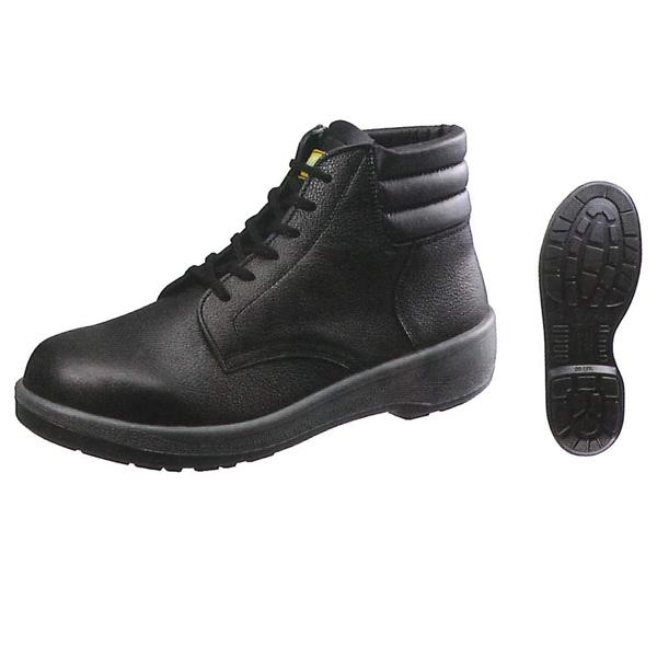 シモン 中編上靴 ECO22黒 (普通作業用) (JIS T8101革製S種(普通作業用) E合格品)
