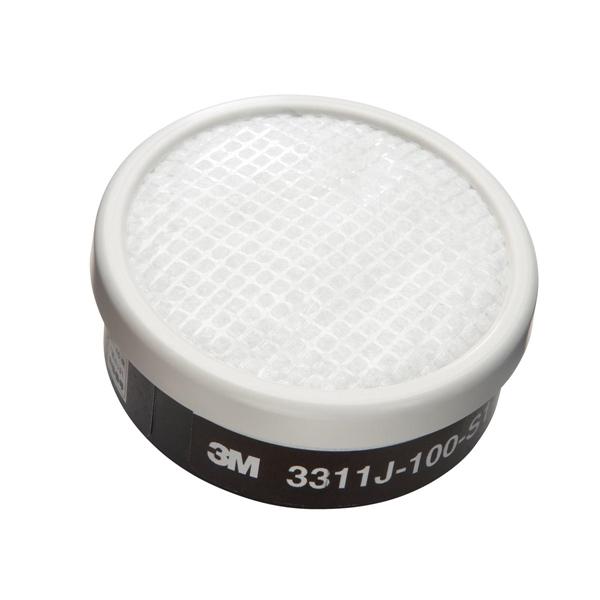 【3M/スリーエム】防毒マスク用吸収缶3311J-100-S1 有機ガス用(60個/1ケース)【防塵機能有り】 ガスマスク