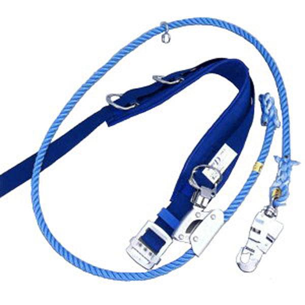 ベルトのカーブが腰にフィットする柱上用安全帯 (送料無料) サンコー/タイタン 柱上用 安全帯 U字吊り・1本吊り兼用 Dライト16 (U字つり・一本つり兼用)