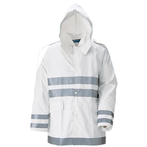 (レインコート/雨合羽/雨具/カッパ) クールコート夜行雨衣 5L(上下セット) (業務用/作業用/レインウェア/台風/通勤用)
