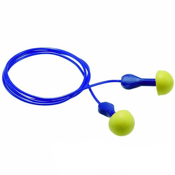 (送料無料)耳栓 耳せん 3M エクスプレスEP-2コード付 (1/箱100組) (遮音値/NRR:25dB) (睡眠/遮音/防音/飛行機対策)みみせん みみ栓