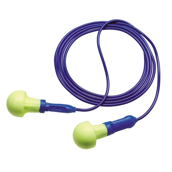 耳栓 3M プッシュインスミニひもつき 318-1001 (1箱100組) (遮音値/NRR:28dB) (防音/遮音/騒音対策)
