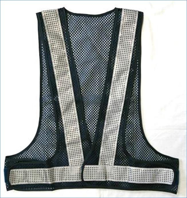 オールシーズン着用できます 安全ベスト エアースルーベスト メッシュ ビーズ反射 保障 ブルーメッシュ AFV50-BW 日本正規代理店品 白反射