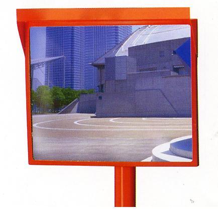 優先配送 安全道路反射鏡 交通事故防止に 角型カーブミラー 500×600 アクリル製 広角 エス ナック ケイ 設置基準合格品 2020 道路反射鏡