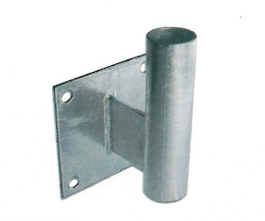 送料無料(一部地域を除く) 安全道路反射鏡用 コンクリート壁対応 カーブミラーL型壁用取付金具 支柱部分 ナック 直径34.0mm ケイ おトク エス