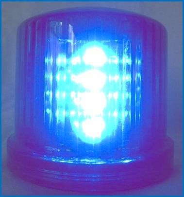 従来の回転に全点滅機能が加わりました セール開催中最短即日発送 ニュー電池式LED回転灯 点滅灯 青色 メーカー直送 超高輝度LED