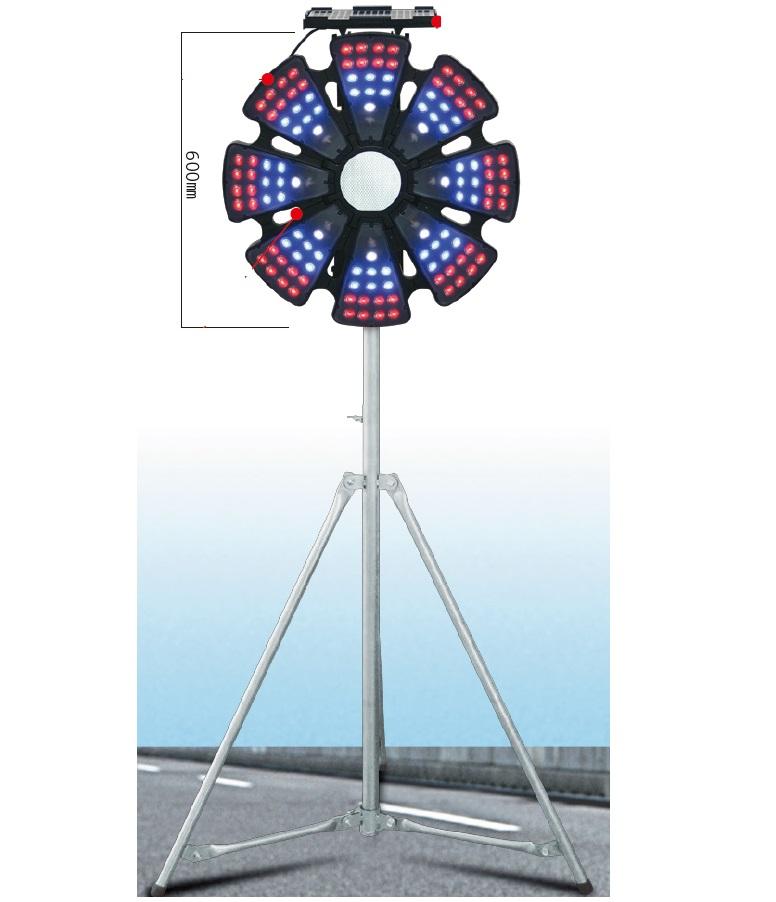 【送料無料】ソーラー式LEDリングライト ソーラーIIα(アルファ) LED大型回転灯 三脚付 21772 NETIS登録商品