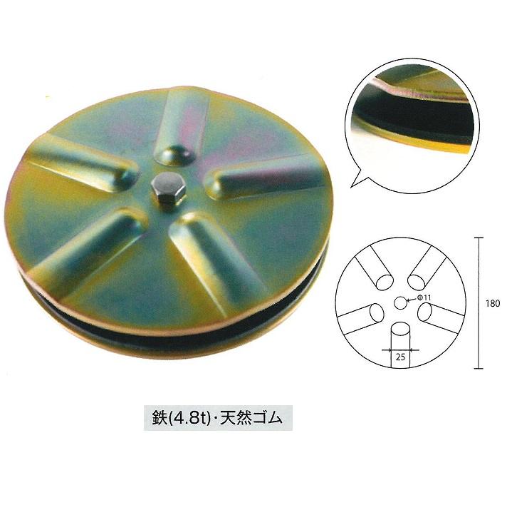 敷板・樹脂板のズレ防止金具 アイアンマン 10個セット
