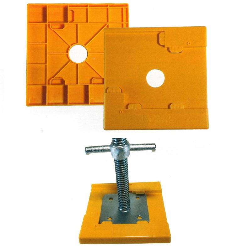 ジャッキベース樹脂敷板 沈み防止用敷板 ウルトラワイドベース カド・サイド部3箇所にセット可 40枚セット