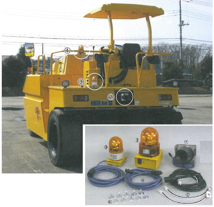 重機事故防止 超音波警報センサー 「パノラマ アール・ツー(RII)」(送料無料) 建設・土木重機接触防止装置 本装置1セット つくし工房