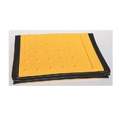 点字マット(折りたたみ式)  ホームタイプ 500W×1850L(6枚1洌) ゴムマット