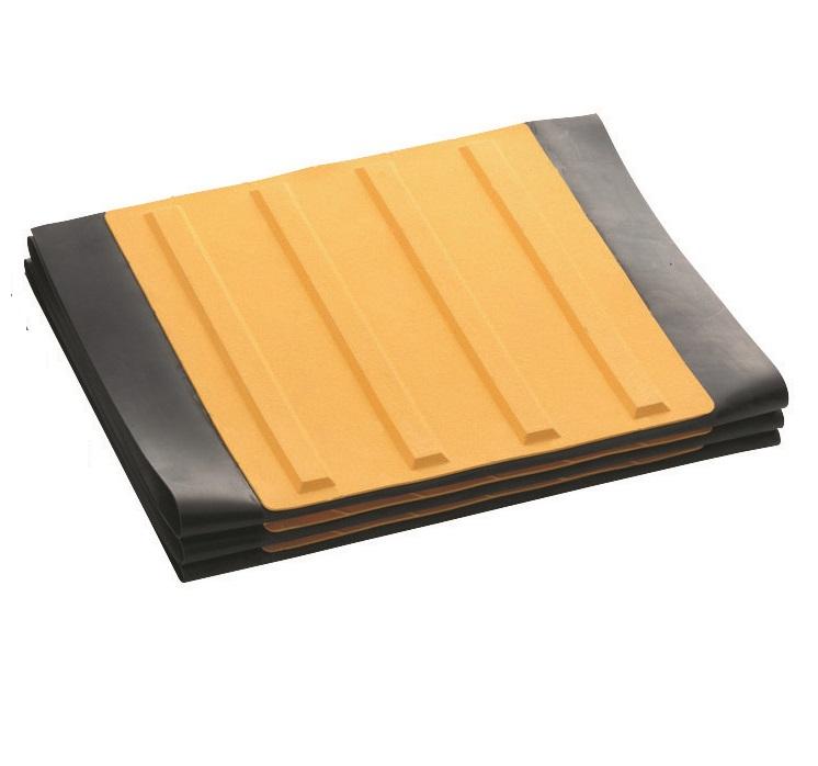 点字マット(折りたたみ式)  300角ラインタイプ 400W×1850L(6枚1洌) ゴムマット