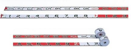 測量用 リボンテープ リボンロッド 50m  60mm幅  両サイド目盛 遠距離用 E-1