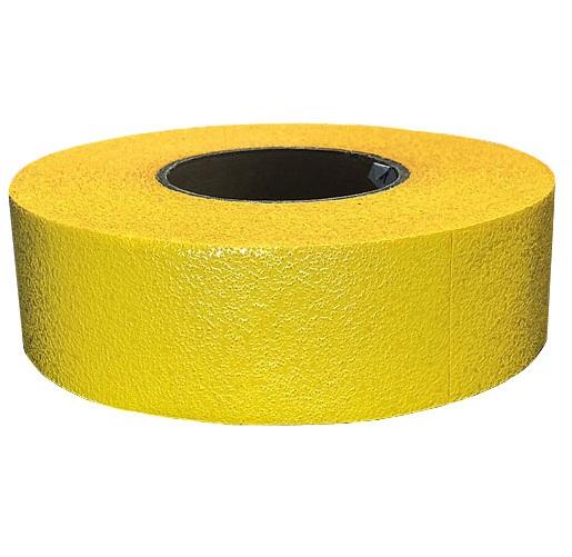 仮ライン反射テープ(粘着性) 50mm 黄色 5巻セット 駐車場舗装・道路舗装時に最適 50mm幅×45m カットライン
