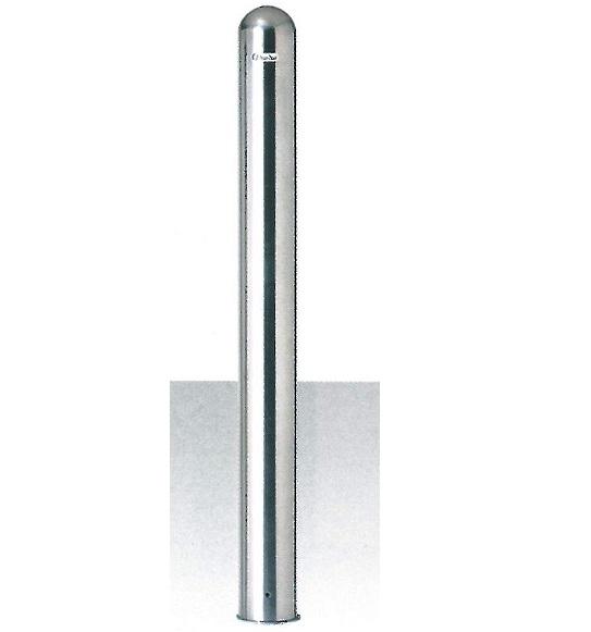 【送料無料】車止め(ポストタイプ)サンキン メドーマルク ステンレス製 固定式φ114.3×H730mm(地上寸法)SP-11